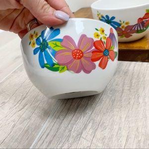 Kitchen - Royal Norfolk Floral Cereal Glass Kitchen 2 Bowls